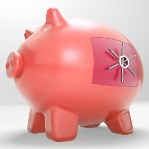 Safe Piggy Shows Restricted Permission Money Box